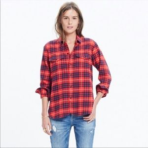 Madewell flannel cargo workshirt in Altamira plaid
